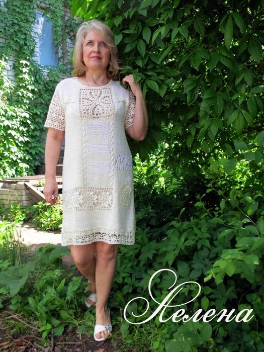 Вяжем платья в стиле бохо