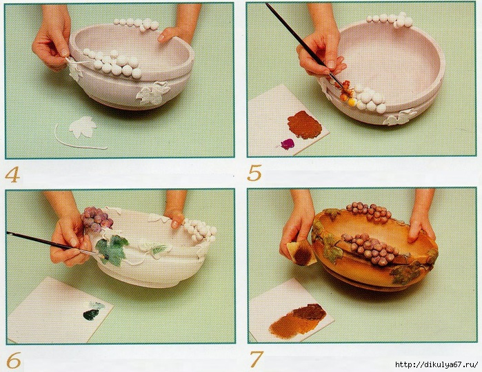Как сделать в домашних условиях тарелку