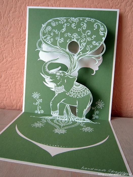 3D-открытка СЛОН И ДЕРЕВО, автор Shraddha (1) (525x700, 348Kb)