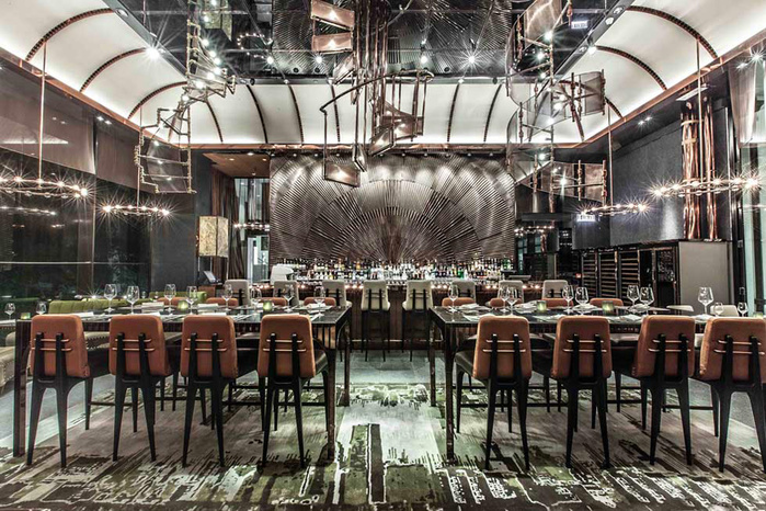 креативный дизайн интерьера ресторана фото (700x466, 216Kb)