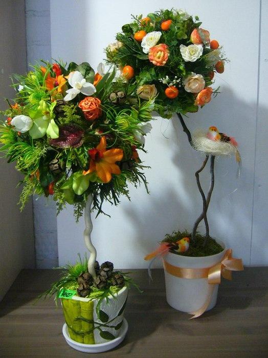 Деревце из цветов