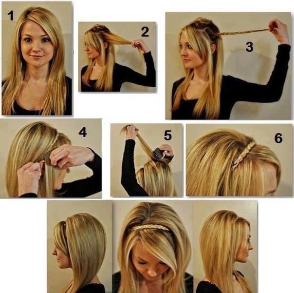 ободок из волос фото