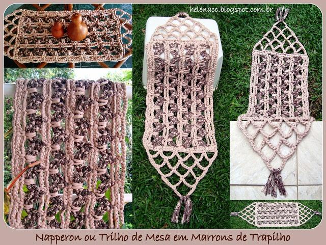 用针织布料钩的各种垫 - maomao - 我随心动