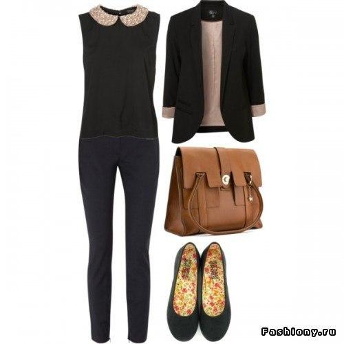 Сочетания одежды для девушек весна