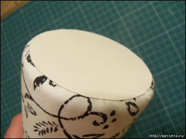 Текстильные цветы и веточки на проволоке и декор вазы тканью (6) (640x479, 200Kb)