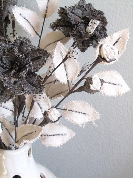 Текстильные цветы и веточки на проволоке и декор вазы тканью (36) (525x700, 106Kb)