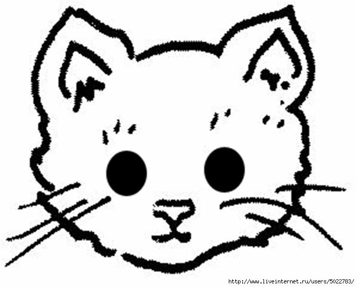 Маска кошка из бумаги своими руками