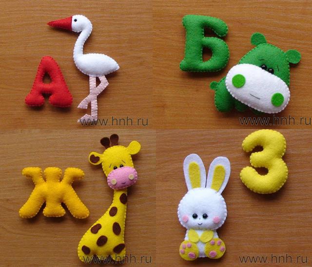 Фетровый алфавит с игрушками из фетра (2) (640x548, 354Kb)