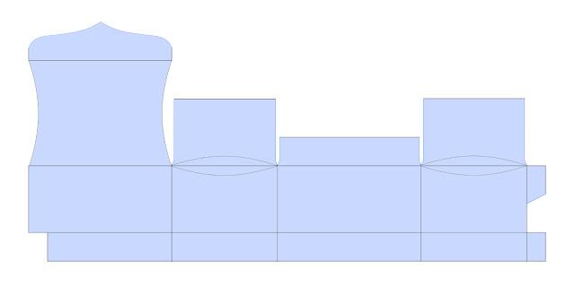 Шкатулочка из бумаги. Шаблон шкатулки (4) (640x320, 15Kb)