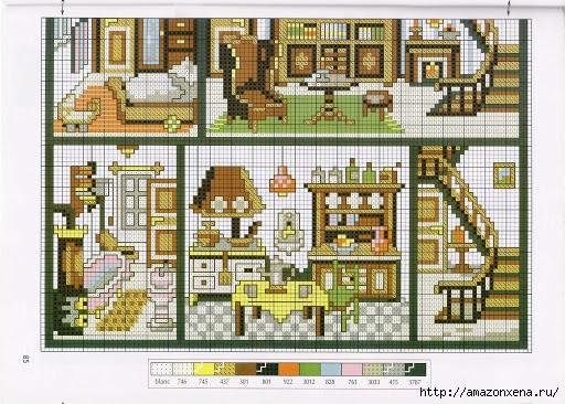 Вышивка. Кукольные домики с мебелью (4) (512x366, 209Kb)
