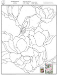 ������ Stained Glass Patterns for FREE 008 Springtime Magnolia (540x700, 100Kb)