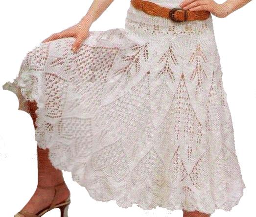 Вязаная ажурная юбка спицами схемы