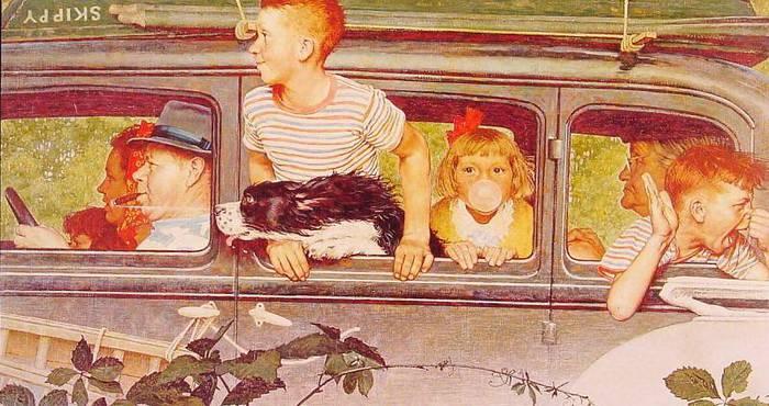 Художник Норман Роквелл (Norman Percevel Rockwell) родился в 1894 году в Нью-Йорке, США. В четырнадцать лет поступил в Нью-йоркскую школу искусств, а через два года перешёл в Национальную академию художеств. К Роквеллу успех пришёл рано. Свой первый заказ (четыре рождественские открытки) он рисовал в пятнадцатилетнем возрасте. Ещё будучи подростком он был нанят ведущим художником в официальное издание бой скаутов Америки «Boys' Life». В двадцать один год художник организовал собственную студию, выполняя заказы «Life», «Literary Digest» и др. изданий. Через год Роквелл создал свою первую журнальную обложку для издания «The Saturday Evening Post», отзываясь о нем как о самом точном зеркале американской жизни. За четыре десятилетия художник проиллюстрировал 321 обложку журнала. В 1953 году Роквелл вместе с семьей переехал в Стокбридж, штат Массачусетс, где он продолжал неустанно работать, создавая многочисленные иллюстрации, постеры, рекламные работы. В начале семидесятых Роквелл доверил свои работы историческому обществу «Old Corner House Stockbridge», которое впоследствии стало музеем, названным его именем. А в 1970-м художник удостоился почетнейшей награды: президентской медали Свободы за яркое отображение американской жизни. Умер художник-иллюстратор в 1978 году, оставив нам в наследие свои замечательные работы. (С)/5309120_0_90441_434a75b3_XL (700x370, 63Kb)