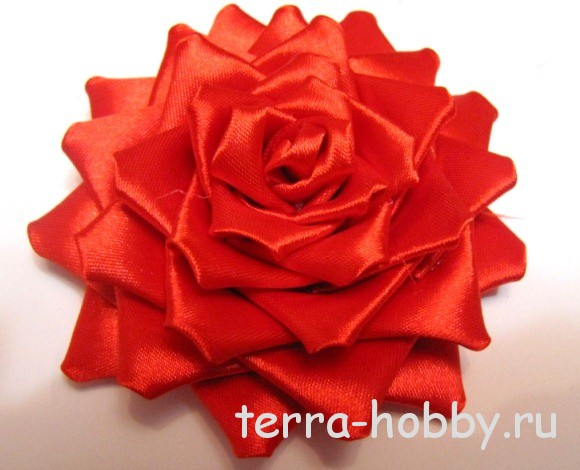 Мастер-класс: роза канзаши