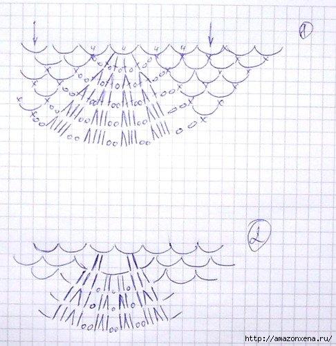Летний пуловер крючком (5) (486x500, 151Kb)