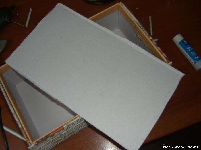 Декорирование обувной коробки газетными трубочками. Мастер-класс (2) (700x525, 212Kb)