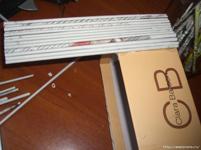Декорирование обувной коробки газетными трубочками. Мастер-класс (4) (700x525, 259Kb)
