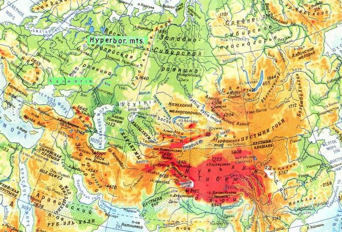 карта птролемея АЗИЯ (700x475, 114Kb)