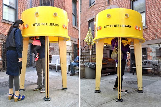 социальный проект уличная библиотека в нью-йорке 6 (680x452, 147Kb)