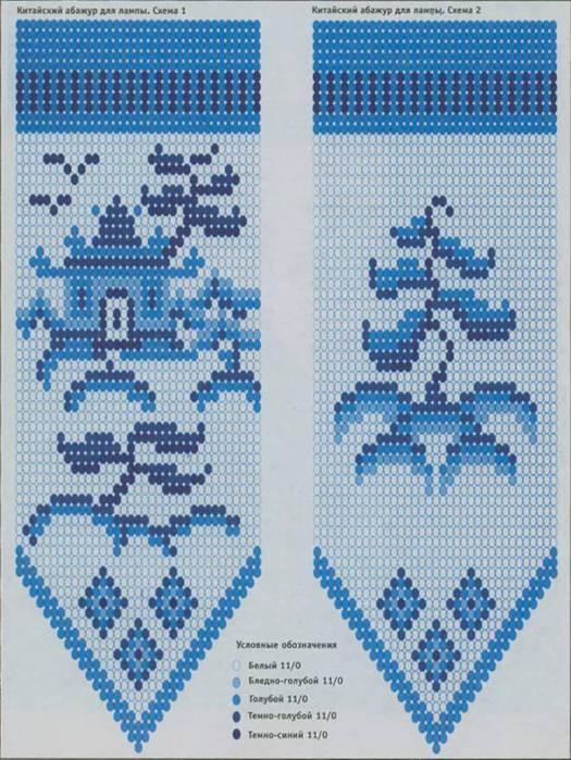 Схема китайского абажура из бисера.