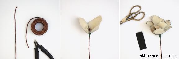 Цветы из акварельной бумаги (11) (576x192, 46Kb)