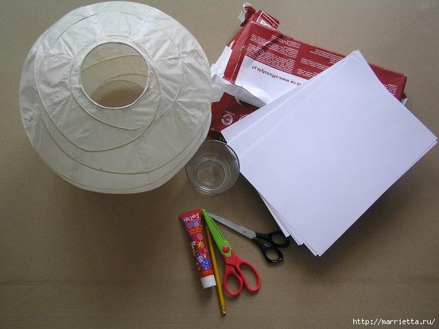 Декорирование абажура розочками из бумаги (6) (640x480, 121Kb)