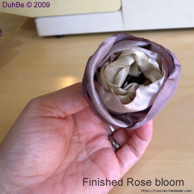 Как сделать цветочек из шелка и органзы. Мастер-класс (8) (640x640, 157Kb)