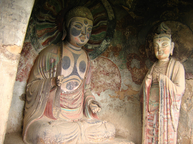 буддийский комплекс Майцзишань китай 6 (640x480, 138Kb)