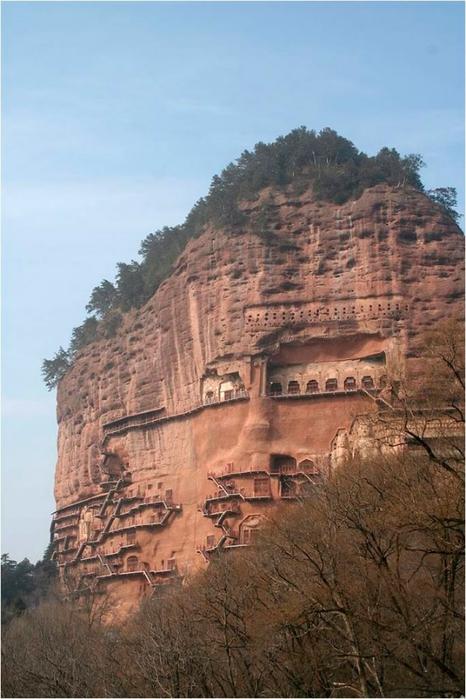 буддийский комплекс Майцзишань китай 10 (466x700, 228Kb)