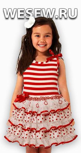 Сшить летнее платье для девочки своими руками без выкройки быстро
