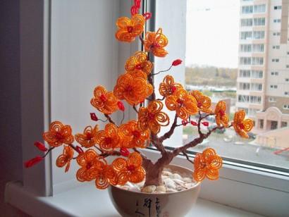 персиковое дерево Для дома - авторская работа на Uniqhand.