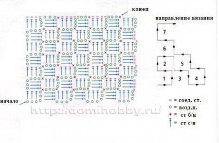 1-1вязание от угла (450x294, 26Kb)
