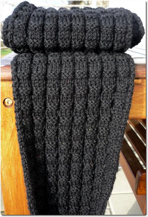 Как связать мужской шарф крючком 11