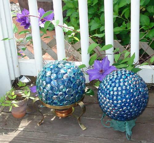 Bolas decorativas feitas de cimento para o jardim.  Idéias e master class (21) (500x464, 73KB)