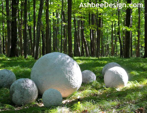 Bolas decorativas feitas de cimento para o jardim.  Idéias e master class (23) (600x461, 146KB)