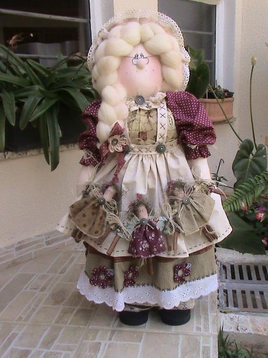 лоскутные куклы ручной работы 17 (525x700, 295Kb)