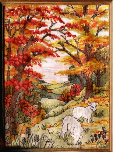 Вышивка крестом, схемы Осенний