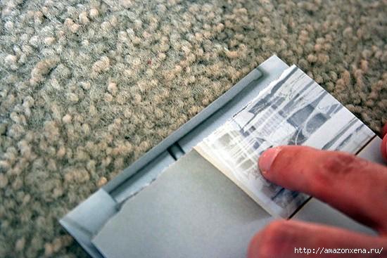 Как сделать сумочку для подарка из журнальных страниц (7) (550x367, 150Kb)