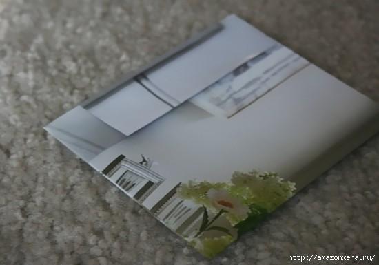 Как сделать сумочку для подарка из журнальных страниц (9) (550x385, 80Kb)