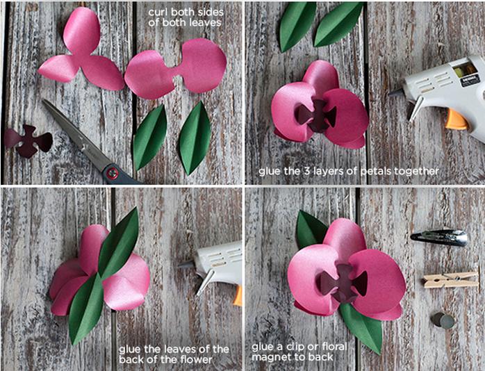 Орхидеи своими руками из бумаги