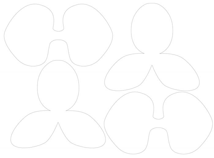 Орхидея из бумаги для