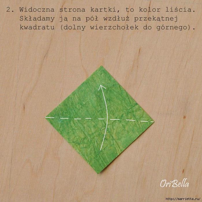 Декоративный плющ из бумаги в технике оригами. Мастер-класс (6) (700x700, 194Kb)