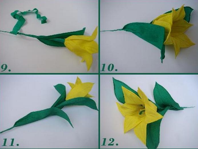 Тюльпаны из бумаги своими руками видео мастер класс
