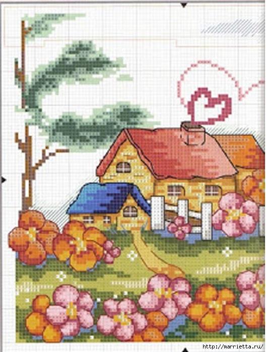 Вышивка для тех, кто мечтает о домике в деревне) (10) (528x700, 211Kb)
