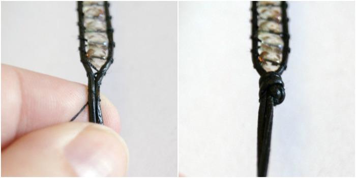 Браслет из шнурка и бусин. Фото мастер-класс (8) (700x350, 33Kb)