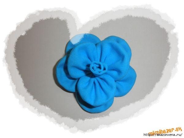 Мастер-класс по созданию цветочков из ткани для украшения детской одежды (13) (600x450, 66Kb)