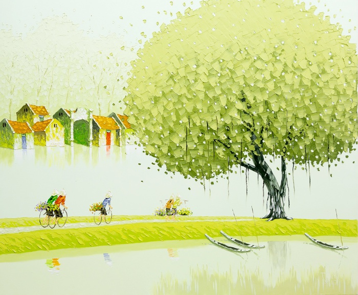 Phan-Thu-Trang.-Flower-field.-Going-home-from-the-field.-100x120-cm (700x578, 164Kb)