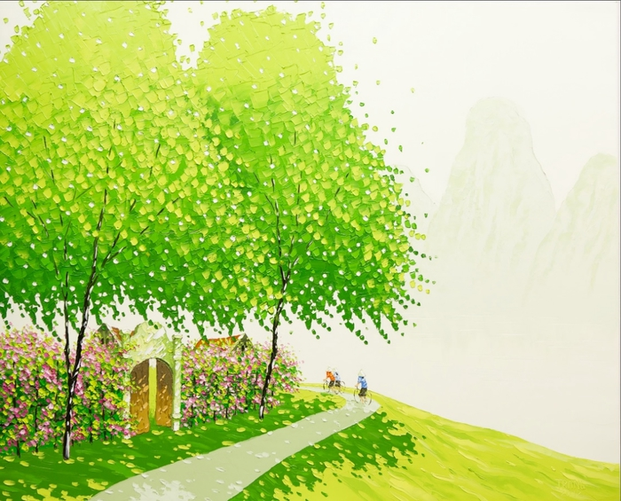 Phan-Thu-Trang.-Flower-field.-The-way-to-the-field.-100x120-cm (700x565, 311Kb)