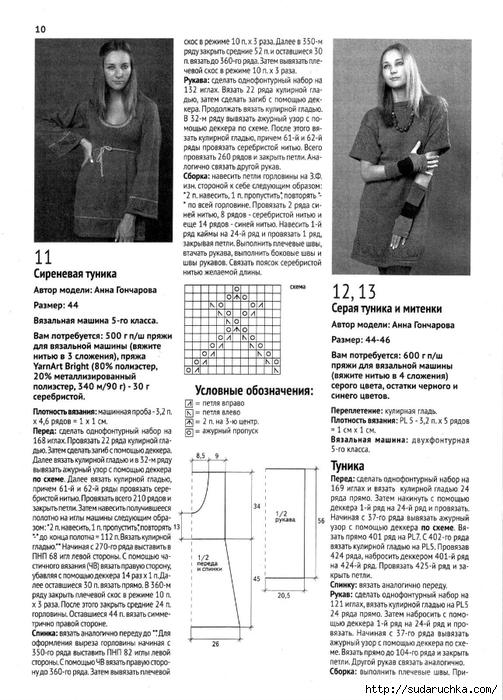 Схемы машинного вязания с описанием 359