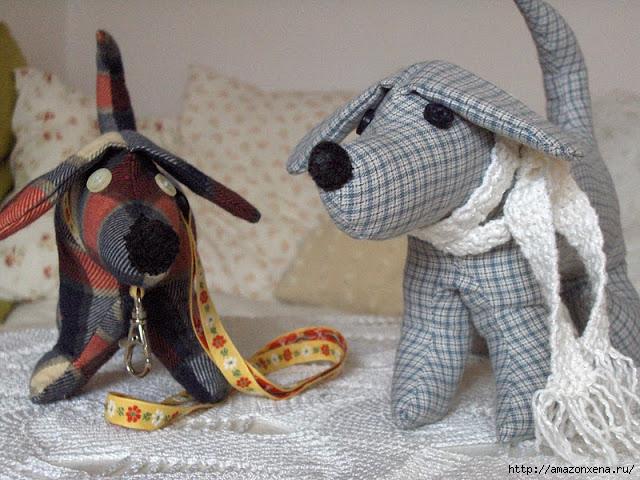 Шьем игрушки. Выкройки зайца и таксы (2) (640x480, 269Kb)